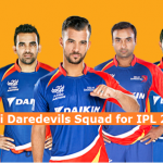 Delhi Daredevils Team Squad 2017 Official List of Players DD IPL 10